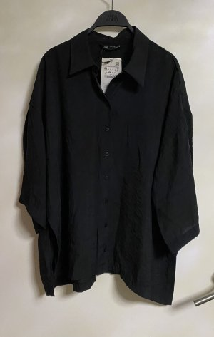 Zara Hemd Bluse Oversize Jacke schwarz M 38 Neu