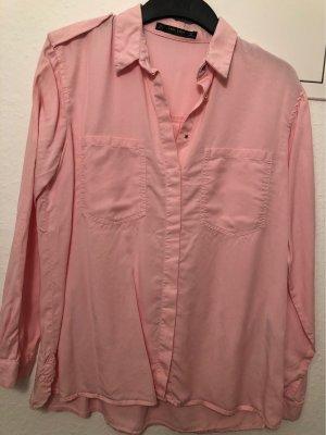 ZARA Hemd Bluse rosa Gr S (36)