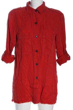 Zara Hemd-Bluse rot Elegant