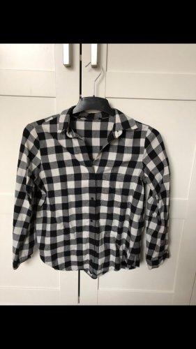 Zara Hemd Bluse schwarz weiß Größe S