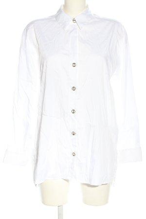 Zara Hemd-Bluse weiß Business-Look