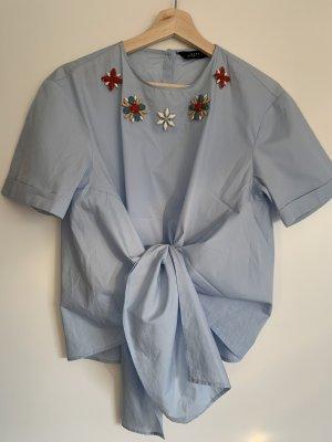 Zara Chemise à manches courtes bleuet-bleu azur