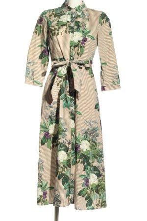 Zara Hemdblusenkleid Blumenmuster Casual-Look