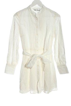 Zara Hemdblusenkleid wollweiß Elegant