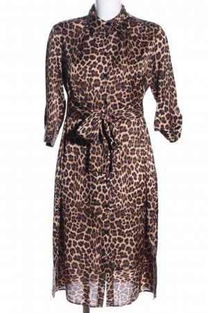 Zara Shirtwaist dress animal pattern casual look