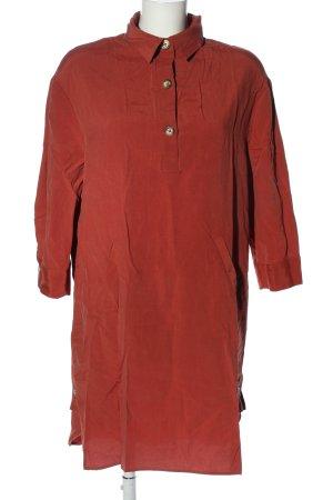 Zara Vestido tipo blusón rojo look casual