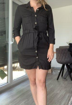 Zara Vestido camisero negro