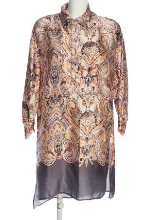 Zara Abito blusa camicia stampa integrale stile casual