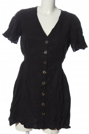Zara Vestido tipo blusón negro look casual