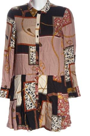 Zara Hemdblusenkleid Allover-Druck Casual-Look