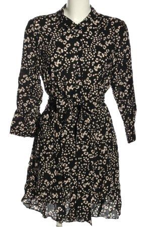 Zara Robe chemise noir-blanc style décontracté