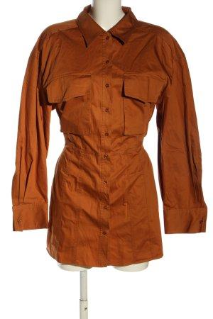 Zara Hemdblusenkleid rot Casual-Look