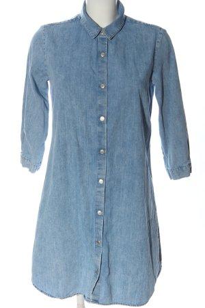 Zara Robe chemise bleu style décontracté