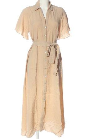 Zara Robe chemise crème style décontracté