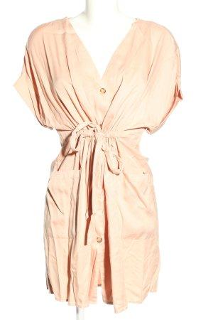 Zara Vestido tipo blusón crema look casual