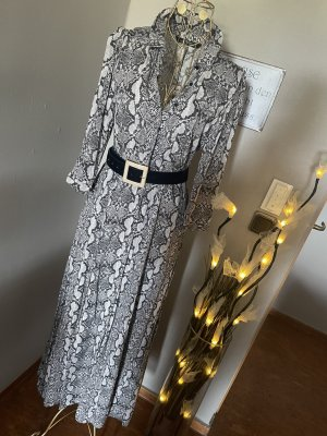 Zara Hemdblusenkleid Schlangenprint Gr M
