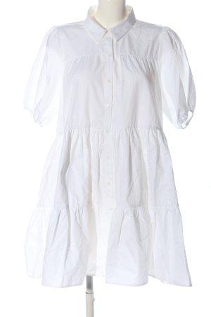 Zara Hemdblusenkleid weiß Casual-Look