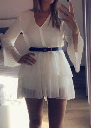 Zara Vestido tipo blusón blanco
