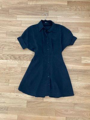 ZARA Hemdkleid Kleid schwarz