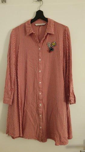 ZARA Hemdkleid mit Broschen