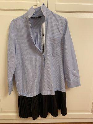 Zara Hemdkleid mit Lederrock