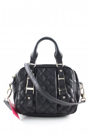 Zara Henkeltasche schwarz Steppmuster Business-Look