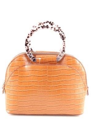Zara Draagtas licht Oranje volledige print casual uitstraling
