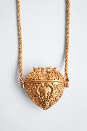 ZARA Herz Tasche Handtasche gold