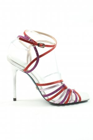 Zara High Heel Sandaletten mehrfarbig Elegant