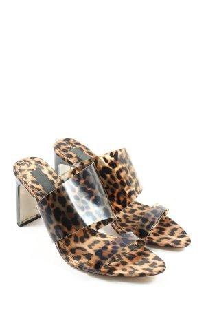 Zara High Heel Sandaletten Leomuster Casual-Look