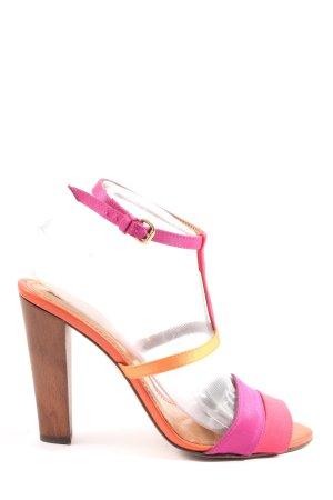 Zara High Heel Sandaletten pink-hellorange Elegant