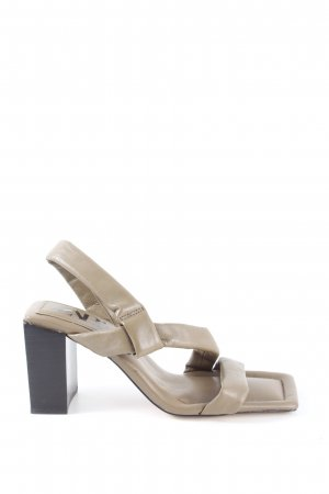 Zara High Heel Sandaletten khaki Casual-Look