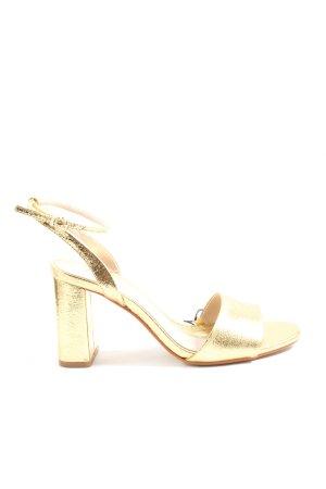 Zara High Heel Sandaletten goldfarben Elegant