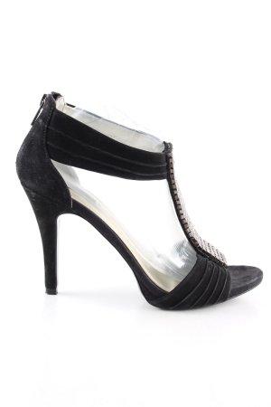 Zara High Heel Sandaletten schwarz Elegant