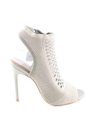 Zara High Heel Sandaletten wollweiß Elegant