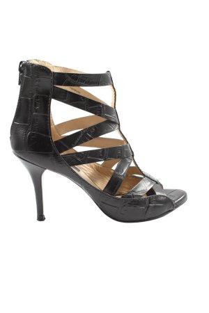 Zara High Heel Sandaletten schwarz extravaganter Stil
