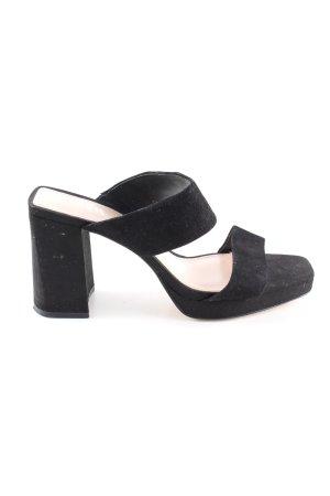 Zara High Heel Sandaletten schwarz Casual-Look