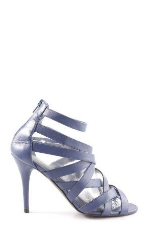 Zara High Heel Sandaletten blau Elegant