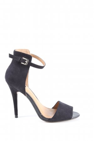 Zara High Heel Sandaletten schwarz Casual-Look