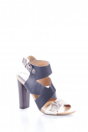 Zara High Heel Sandaletten schwarz-sandbraun Animalmuster