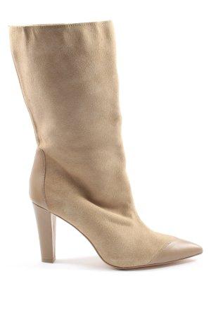 Zara High Heel Stiefel wollweiß Casual-Look