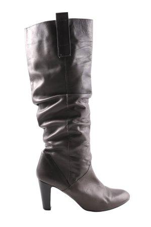Zara High Heel Stiefel hellgrau Casual-Look