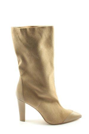 Zara High Heel Stiefel creme Casual-Look