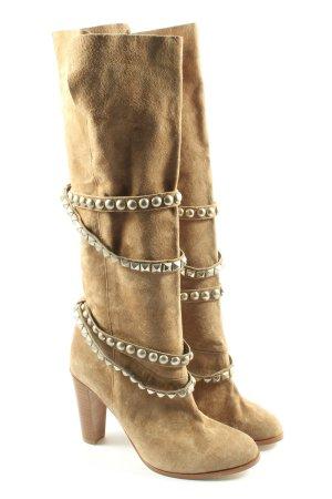 Zara High Heel Stiefel braun Elegant