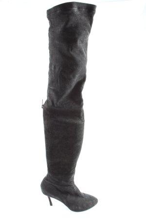Zara High Heel Stiefel schwarz Casual-Look