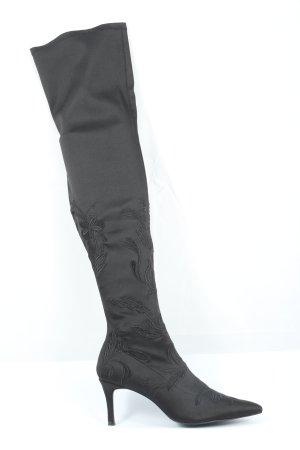 Zara High Heel Stiefel schwarz Elegant