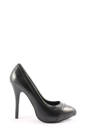 Zara High Heels schwarz Casual-Look