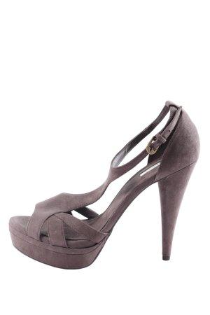 Zara High Heels hellgrau Casual-Look