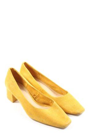 Zara High Heels blassgelb Business-Look