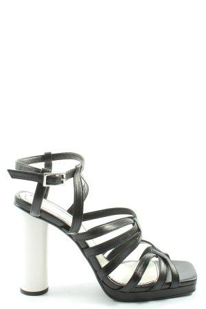 Zara High Heels schwarz-weiß Casual-Look